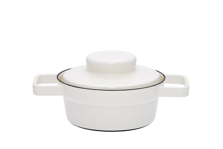 riess aromapot kasserolle mit deckel 16cm weiss kochen. Black Bedroom Furniture Sets. Home Design Ideas